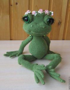 Вязание ручной работы. Мастер класс по вязанию крючком Красивая лягушка. Надежда. Для души и интерьера. Ярмарка Мастеров.