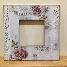 Paris Frame Crafts, Wood Crafts, Fun Crafts, Diy And Crafts, Arts And Crafts, Diy Craft Projects, Projects To Try, Mirrored Picture Frames, Ikea Mirror