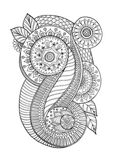 Free coloring page coloring-zen-antistress-abstract-pattern-inspired-by-flowers-4-by-juliasnegireva. Zen & Anti-stress Coloring page : Abstract pattern inspired by flowers : n°4, by Juliasnegireva (Source : 123rf)
