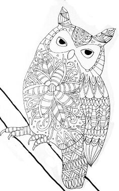 Gih Coloring Pages To Print, Colouring Pages, Adult Coloring Pages, Coloring Books, Different Drawing Styles, Black Art, Black And White, Bird Template, 2 Colours