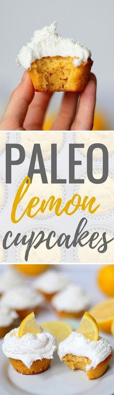 Paleo Lemon Cupcakes http://www.pbfingers.com/paleo-lemon-cupcakes/  This recipe for Paleo Lemon Cupcakes is a sweet and tangy gluten-free and dairy-free dessert, made with fresh lemon juice and sweetened with honey.