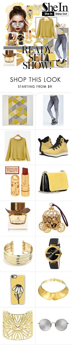 """Untitled #38"" by sahrish-hossain ❤ liked on Polyvore featuring Terez, Native Shoes, Miu Miu, Burberry, OPI, Belk Silverworks, Gucci, Casetify, Alexa Starr and Vélizance"