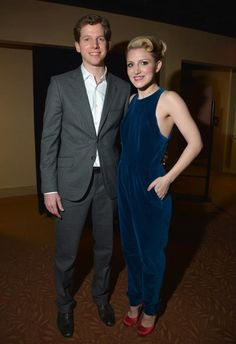 """Stark Sands and Annaleigh Ashford (Kinky Boots) at the #TonyAwards """"meet the nominees"""" reception"""