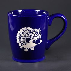 We're all a little spiny before our morning coffee, right? This cute, spiny hedgie will keep you company. Classic Set of 4 = Navy Blue, Sky Blue, Orange, Celery Green Expanded Set of 6 = Navy Blue, Sk