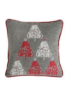 On ideel: SHIRALEAH Christmas Trees Square Pillow