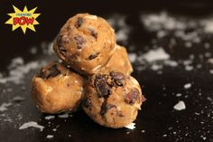 Chocolate Chip Peanut Butter Cookie Dough Protein Balls (Vegan)
