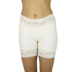 Biker Pants, Lace Trim Shorts, Women's Shapewear, Spanx, Underwear, Ivory, Fancy, Lingerie, Bridal