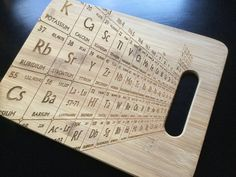 Laser Engraved Personalized Bamboo Periodic Table by AFamilyForest... Teacher gifts