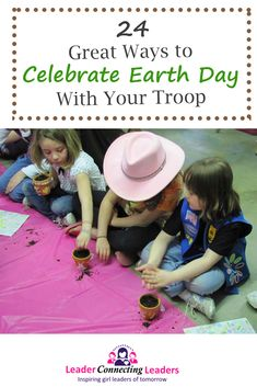 Earth Day is a great time to teach your girl's about saving the earth and making a difference. Earth Day is always celebrated on April It raises awareness for the environment and care of our planet. Girl Scout Activities, Senior Activities, Fun Activities, Earth Day Games, Earth Day Activities, Girl Scout Leader, Girl Scout Troop, First Earth Day, Girl Scout Badges