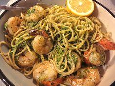 Shrimp, Pasta, & Fresh Pesto