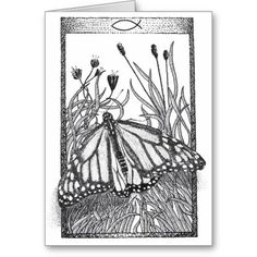 """MONARCH"" GREETING CARD"