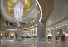 Lobby at Shangri-La at The Fort designed by HBA