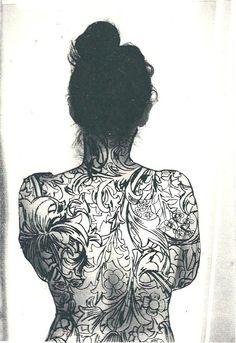 tattoo design (inspired by William Morris)