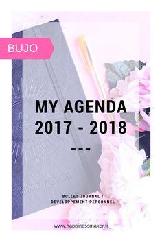 My agenda 2017 2018 Bullet journal débutants