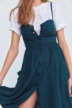 Cooperative Emilia Printed Linen Button-Down Midi Dress