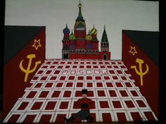 """Moscow""  The Lonesome Traveler Series Acrylic on canvas H 16""  W 20"" for purchase contact JoeyCalveri@gmail.com"