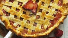 Strawberry-Rhubarb Pie.  I've never tried rhubarb, but this looks yummy!