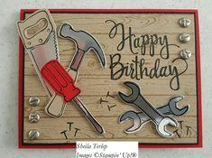 Masculine Birthday Cards, Birthday Cards For Men, Handmade Birthday Cards, Masculine Cards, Greeting Cards Handmade, Male Birthday, Birthday Cake, Pop Up Karten, Stampin Up Karten