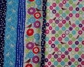 Deux coupons de tissu 56cm x 50cm Kokka Echino Japonais : Tissus par yamadeco-chamonix