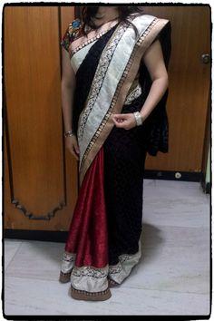 Red & Black saree