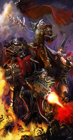 """a-40k-author: """"Cadian Guardsman by Diego Gisbert Llorens, the artist behind the cover for Carcharodons: Red Tithe. """""""