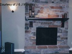 thin stone veneer fireplace