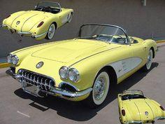 1958 Corvette -Classic American Cars #chevroletcorvette1958