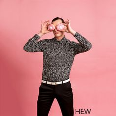 """Black Spec"" HEW printed shirt  Photography - Kylie Knight Model - Jesse Demos Makeup- Amber Debruyn"