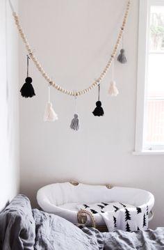 DIY tassel garland in our bedroom x
