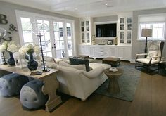 living room hamptons style - Bill and Guiliana's Rancic home…beautiful!