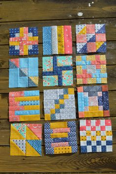 free summer blockbuster quilt block by Color Girl Quilts