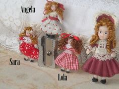 OOAK Toy Dollys. 1:12 Miniature toys for by ANABELAMINIATURES