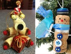 Pin for Later: 221 Upcycling Ideas That Will Blow Your Mind Cork Ornaments For pieces unique to you, dress your Christmas tree up in homemade cork ornaments.  Source: Etsy users CraftyLauries and LollipopDay