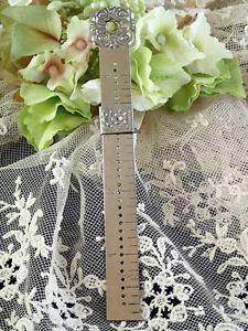 Antique Victorian Silver Hem Marker Ruler Gauge Pelouze Scale 1894 | Vintageblessings