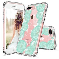 iPhone 7 Case, iPhone 7 Clear Case, MOSNOVO White Henna Mandala Floral Lace Clear Design Printed Transparent Plastic with TPU Bumper Protective Back Phone Case Cover for Apple iPhone 7 Inch) Cute Iphone 6 Cases, Iphone 7 Covers, Iphone 7 Phone Cases, Floral Iphone Case, Best Iphone, Apple Iphone, Cellphone Case, Phone Cover, Iphone 7 Plus