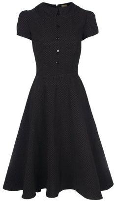Lindy Bop 'Rhonda' Vintage Victorian Style Black Polka Dot Peter Pan Collar Tea Dress (14, Black) Lindy Bop http://www.amazon.co.uk/dp/B00BG74JO4/ref=cm_sw_r_pi_dp_qBn.tb1TA27R4