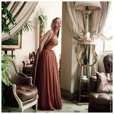 Mark Shaw Editioned Photo-Model in Home of Christian Dior, 1953