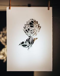 FANTAIL IN THE CUT | Hand Cut: $250 350mm x 500mm (small) $350 500mm x 700mm (large) Open Edition | Flox.co.nz