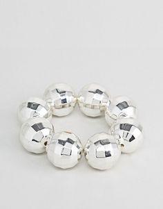Cheap Monday Disco Ball Bracelet - Silver