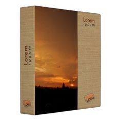 Customizable binder with relaxing sunset colors Fully customizable text and logo on all sides. Recipe Binders, Sunset Colors, Custom Binders, Dry Erase Board, Staying Organized, Lorem Ipsum, Relax, Organization, Logo