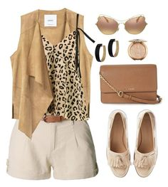 A fashion look from August 2017 featuring silk cami tops, gilet vest and loose fitting shorts. Browse and shop related looks. Silk Cami Top, Beige Vests, Loose Shorts, Loose Tops, Cami Tops, Miu Miu, Polyvore Fashion, Fashion Looks, Michael Kors