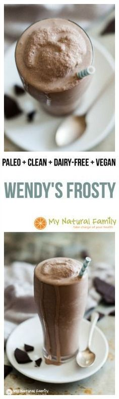 Wendy's Copycat Frosty Recipe {Paleo, Clean Eating, Dairy-Free, Vegan} - this frosty recipe is quick, easy and tastes just like the real thing without all the questionable ingredients.