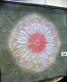 Cindy Needham was teaching in Australia at the Australian Machine Quilting Festival.  She does not list the quilter, but this was a quilt featured in the show!