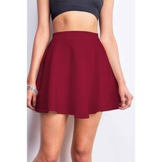 Pink Ice Flared Scuba Skirt ($15) ❤ liked on Polyvore featuring skirts, bottoms, saia, red, flared skirt, red stretch skirt, pink circle skirt, flare skirt and stretchy skirt