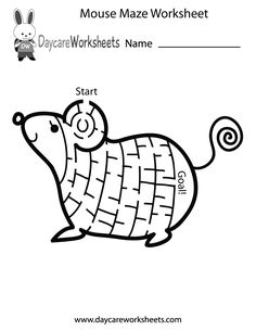 Preschoolers can work on their critical thinking skills and have fun by solving this mouse maze in this free activity worksheet.
