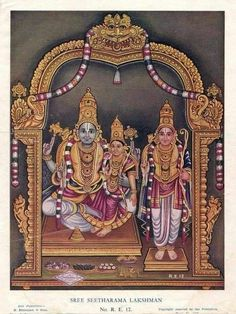Rama at Bhadrachalam Mysore Painting, Tanjore Painting, Kalamkari Painting, Indian Gods, Indian Art, Hindu Deities, Hinduism, Galaxy Drawings, Lord Rama Images