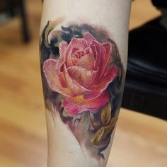 Amazing flower Done by Dmitri Vision at Wyld Chyld Tattoos in Pittsburgh, PA