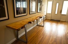 live edge console table - Google Search