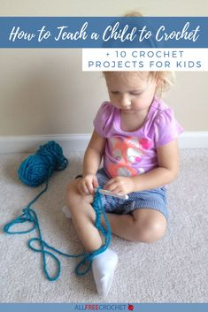 Terrific Free of Charge finger Crochet for kids Tips How to Teach a Child to Crochet 10 Crochet Projects for Kids All Free Crochet, Learn To Crochet, Crochet For Kids, Crochet Baby, Crochet Stitches For Beginners, Beginner Crochet Projects, Beginner Crochet Tutorial, Crochet Instructions, Crochet Basics