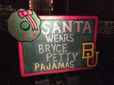 """Our Christmas yard decoration salute to @b_petty14"" // #SicEmSanta"